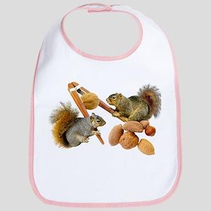 Squirrels Cracking Nuts Bib