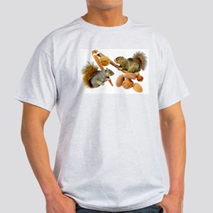 Squirrels Cracking Nuts Light T-Shirt