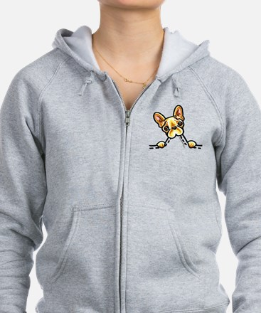 Frenchie Eating Pocket Zip Hoodie