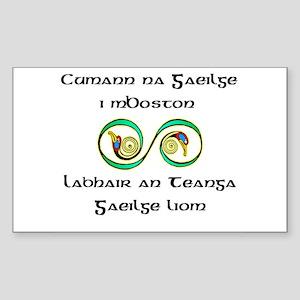 Cumann na Gaeilge i mBoston Rectangle Sticker