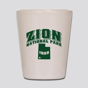 Zion Old Style Green Shot Glass