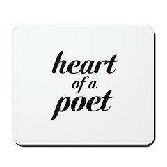 heart of a poet Mousepad