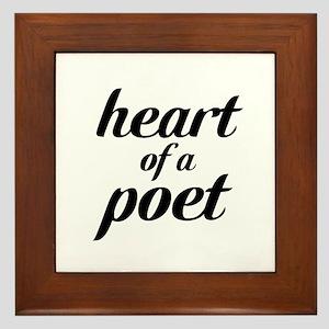 heart of a poet Framed Tile