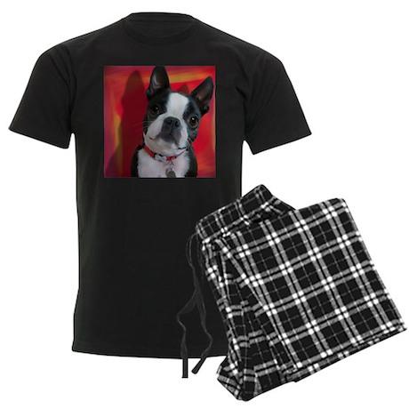 Boston Terrier Men's Dark Pajamas