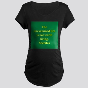Wisdom of Socrates Maternity Dark T-Shirt