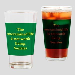 Wisdom of Socrates Drinking Glass