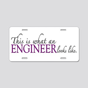 What an ENGINEER looks like Aluminum License Plate