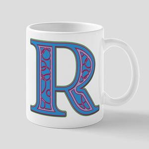 R Blue Glass Mug