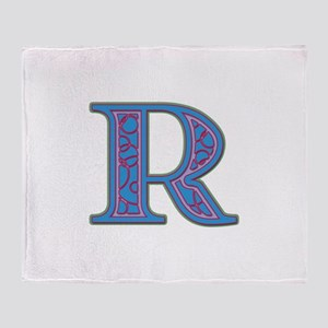 R Blue Glass Throw Blanket