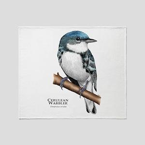 Cerulean Warbler Throw Blanket