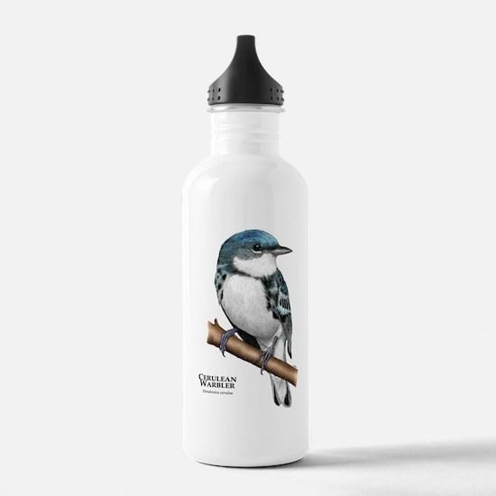 Cerulean Warbler Water Bottle