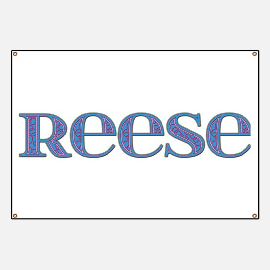 Reese Blue Glass Banner