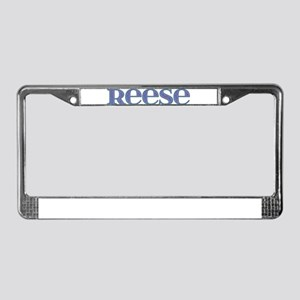 Reese Blue Glass License Plate Frame