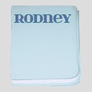 Rodney Blue Glass baby blanket