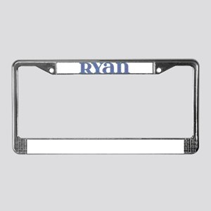 Ryan Blue Glass License Plate Frame