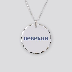 Rebekah Blue Glass Necklace Circle Charm
