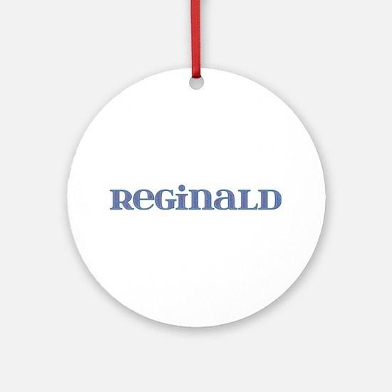 Reginald Blue Glass Round Ornament