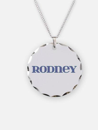 Rodney Blue Glass Necklace