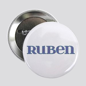 Ruben Blue Glass Button