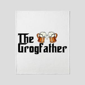 The Grogfather Throw Blanket