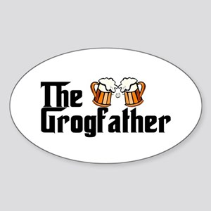The Grogfather Sticker (Oval)