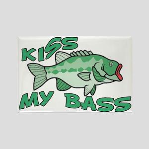 Kiss My Bass Rectangle Magnet