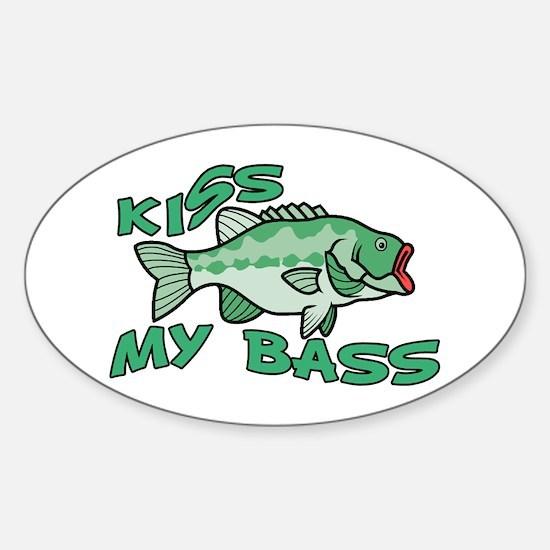 Kiss My Bass Sticker (Oval)