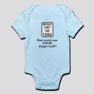 How much can YOUR diaper hold Infant Bodysuit