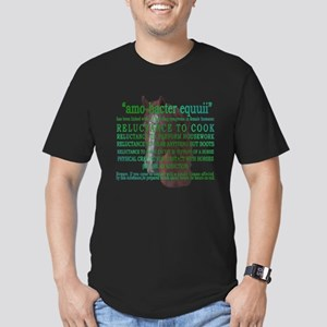 """""""amo-bacter equuii"""" funny hor Men's Fitted T-Shirt"""