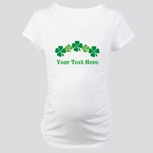 Irish St Patricks Personalized Maternity T-Shirt
