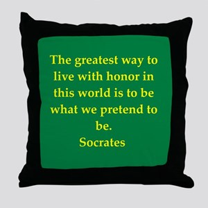 Wisdom of Socrates Throw Pillow