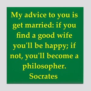 Wisdom of Socrates Tile Coaster