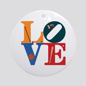 Love Philly Sports Ornament (Round)
