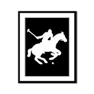 POLO HORSE Framed Panel Print