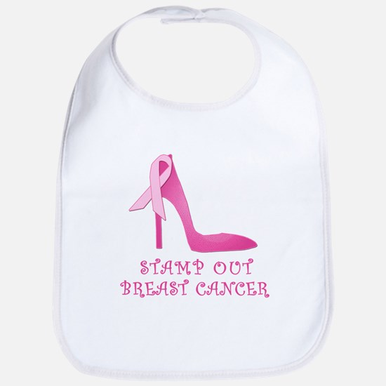 Pink Stiletto Stamp Out Breast Cancer Bib