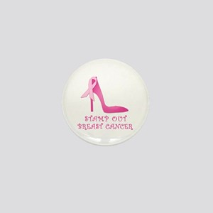 Pink Stiletto Stamp Out Breast Cancer Mini Button