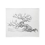 Japanese plum Throw Blanket