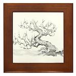 Japanese plum Framed Tile