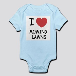 I heart mowing lawns Infant Bodysuit