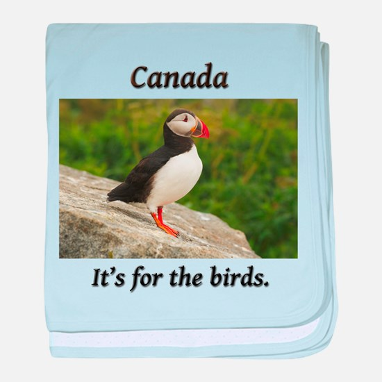 Canada - it's for the puffins baby blanket