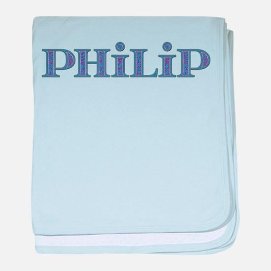 Philip Blue Glass baby blanket