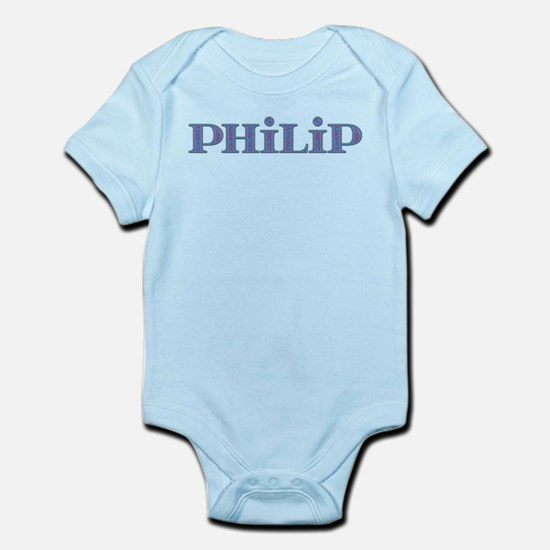 Philip Blue Glass Infant Bodysuit
