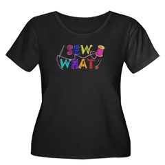 Sew What Women's Plus Size Scoop Neck Dark T-Shirt