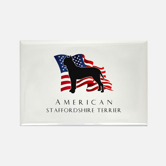 """American"" Staffordshire Rectangle Magnet (100 pac"