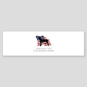 """""""American"""" Staffordshire Sticker (Bumper)"""