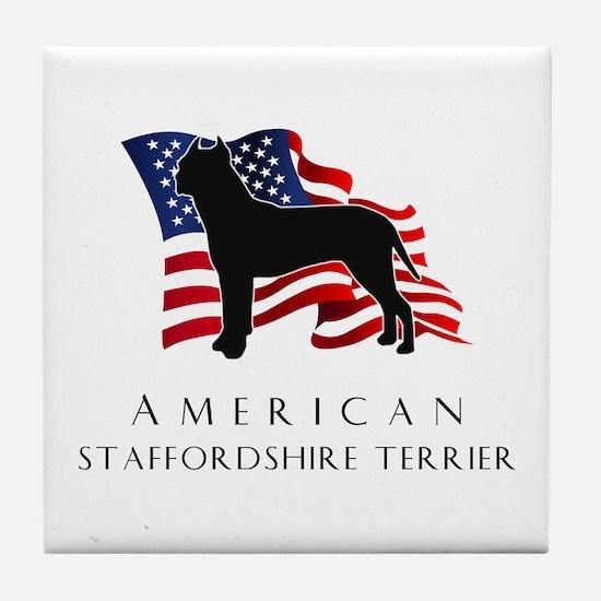 """American"" Staffordshire Tile Coaster"