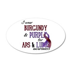 For APS & Lupus Awareness 22x14 Oval Wall Peel