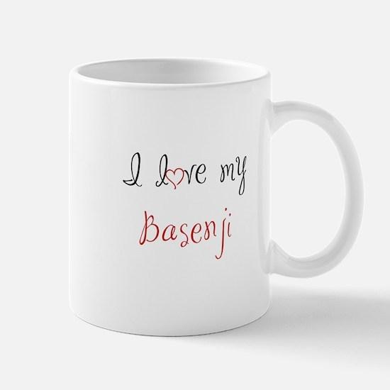 I Love My Basenji Mug