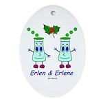 Erlen & Erlene Oval Ornament