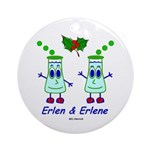 Erlen & Erlene Ornament (Round)